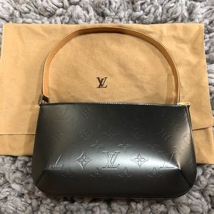 Louis Vuitton Matte Pewter Shoulder Fowler  bag